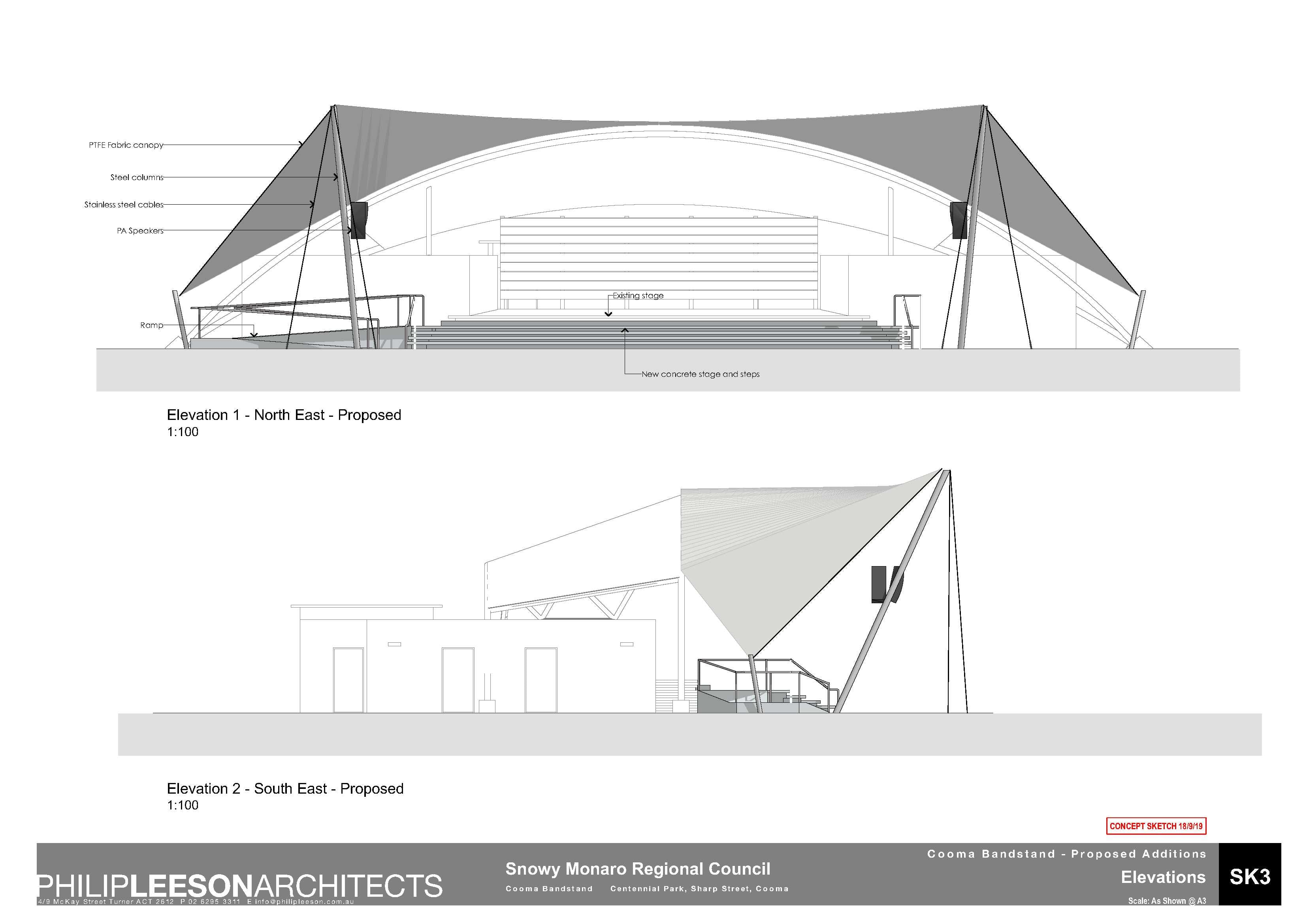 Cooma Bandstand - Proposed Additions_190918 Concept Sketch_3
