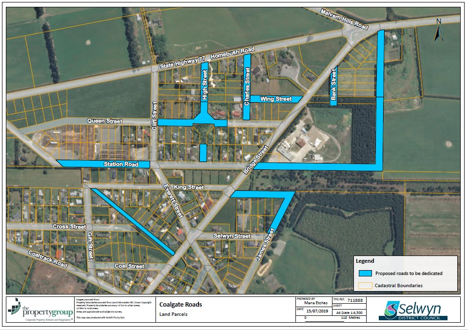 Coalgate Road Dedication Project - Map