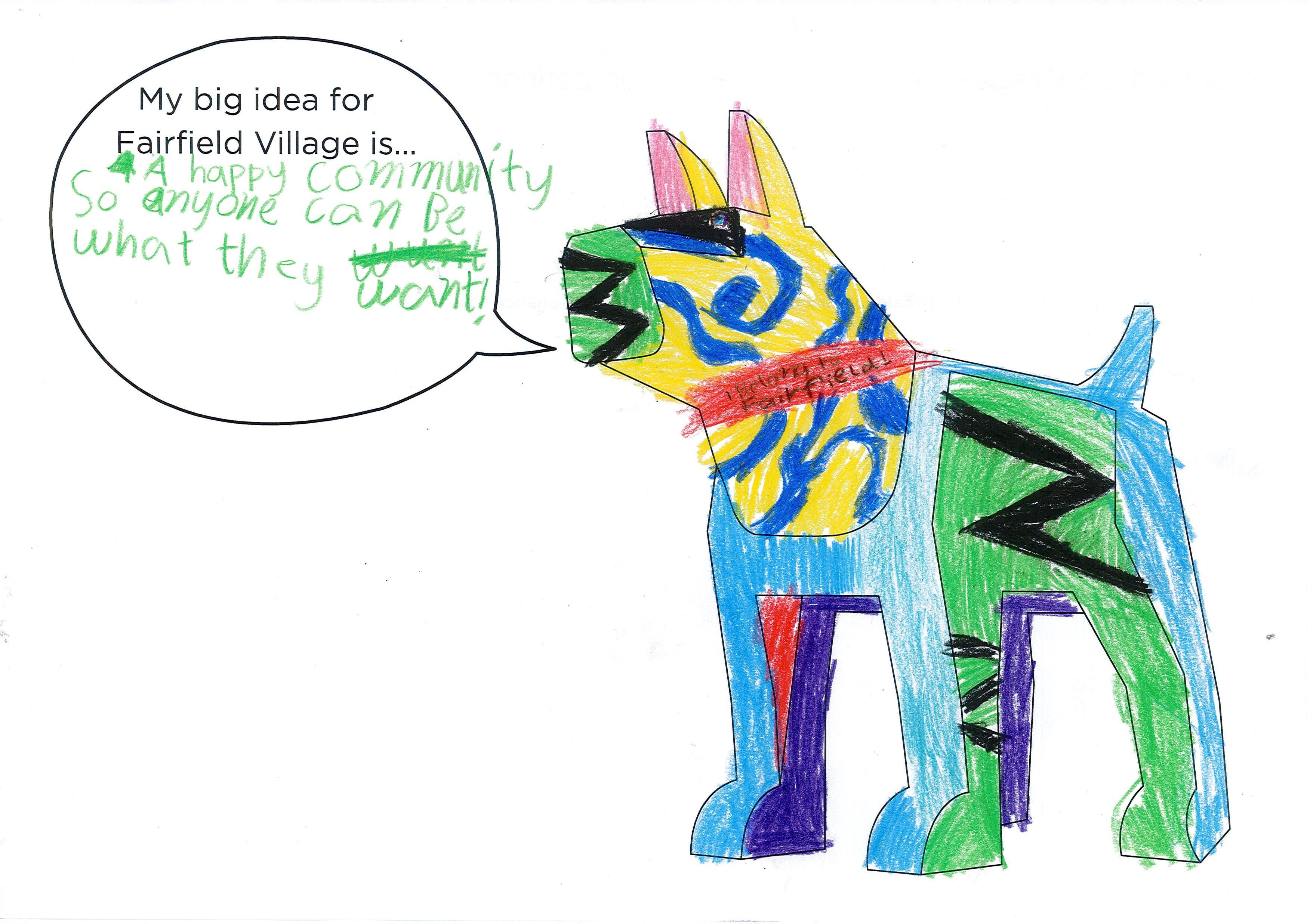 Winner in FIDO Ideas and Colouring Compeition, December 2016 - Amelia Age 9