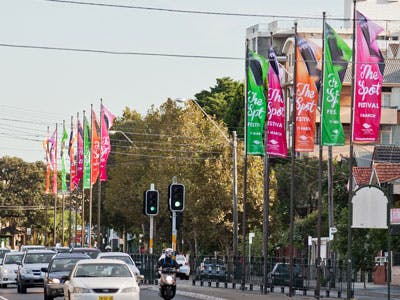 Some Randwick City street banners