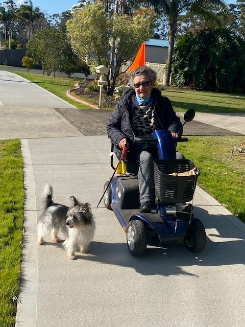 D3 Basin Walk Stage 1 - Resident on Mobility Scooter using new path.jpg