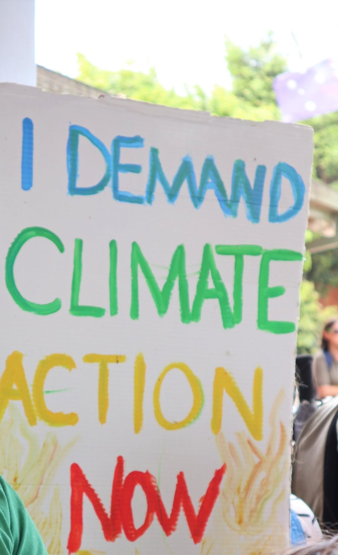 I demand climate action now sign