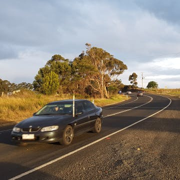 Car travelling on the princes highway