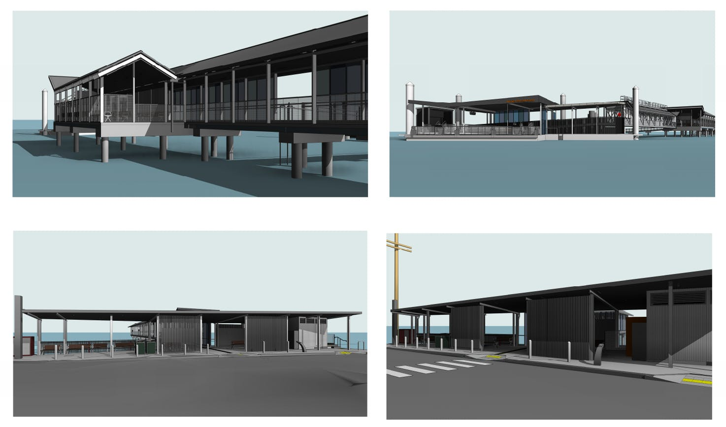 3D images of the future Russell Island ferry terminal