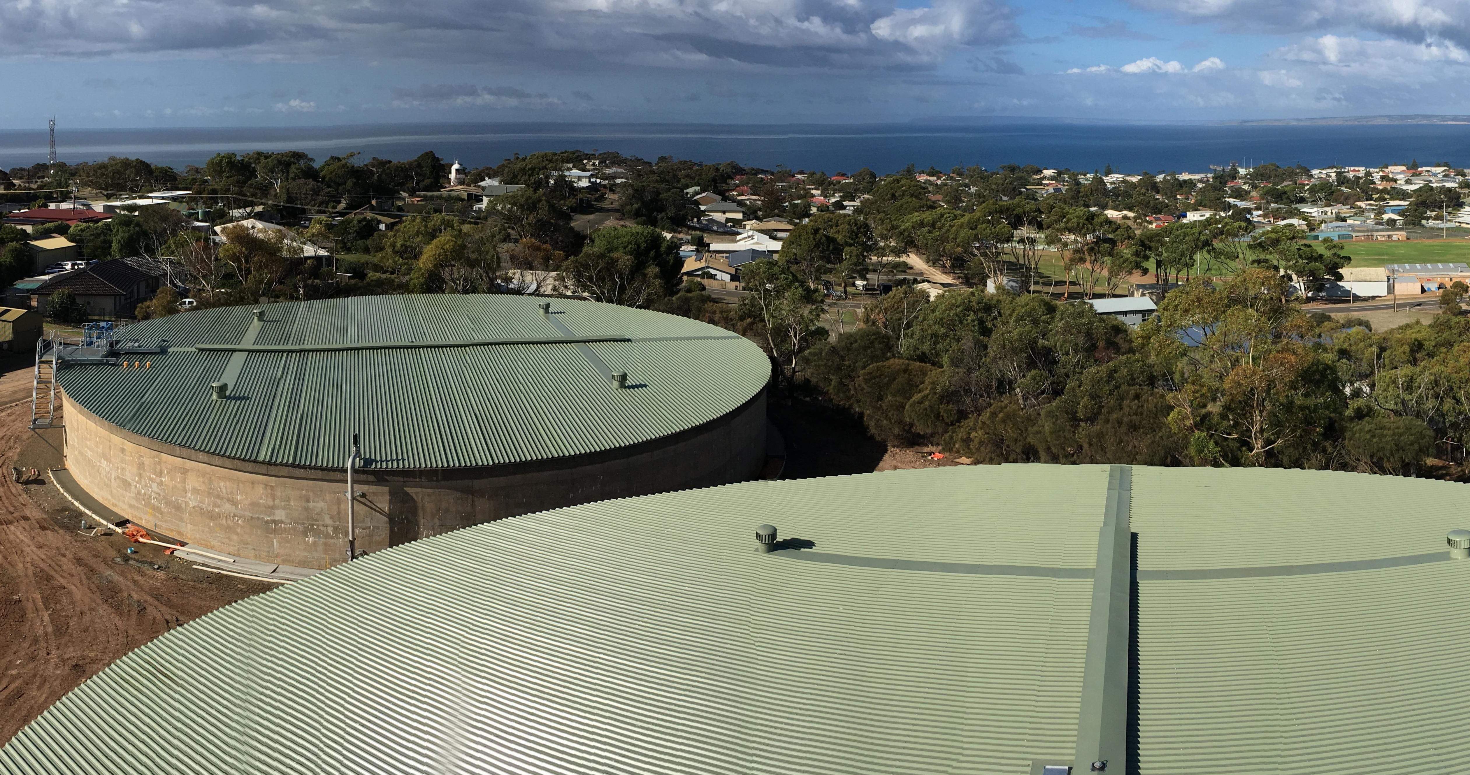 Kingscote water storage tanks