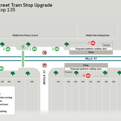 Tram Stop map
