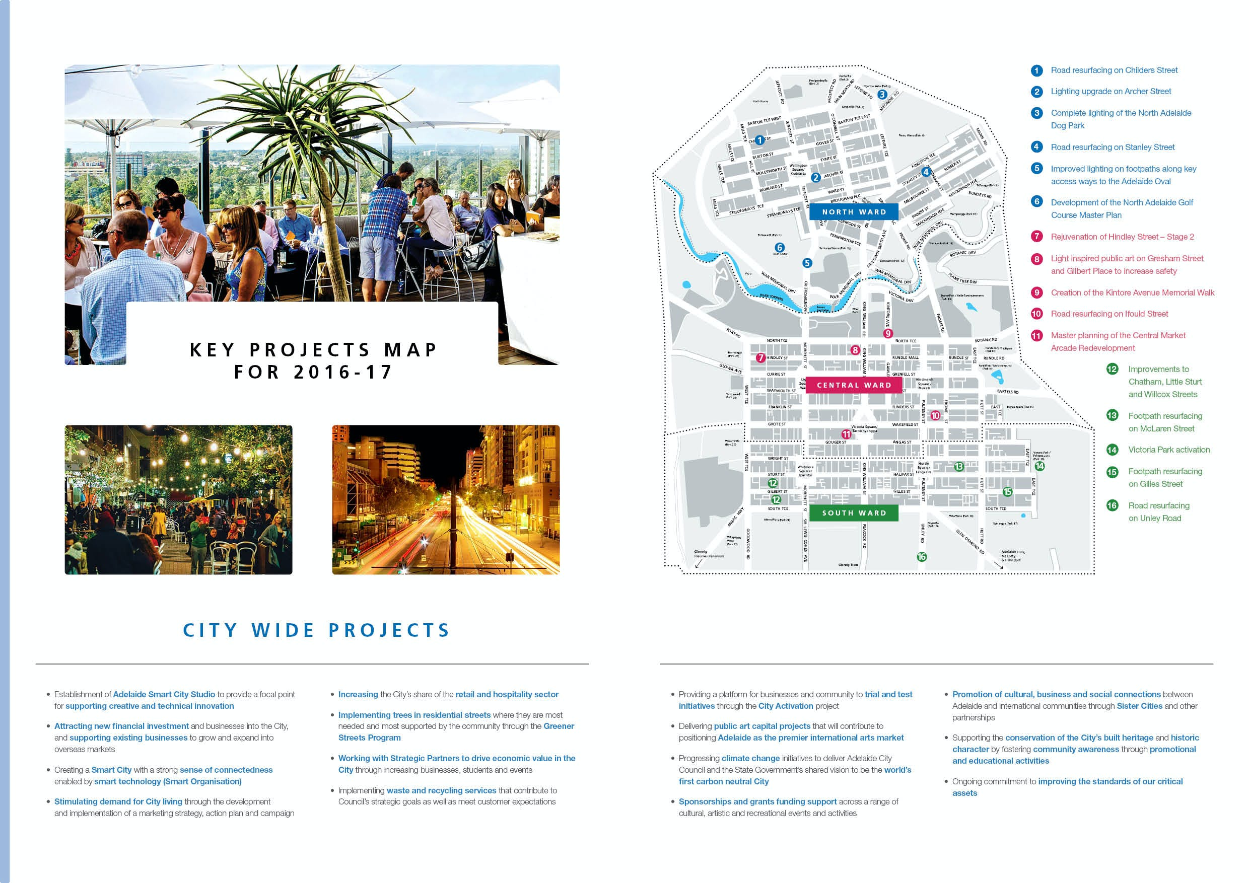Key Projects Map 2016 - 17