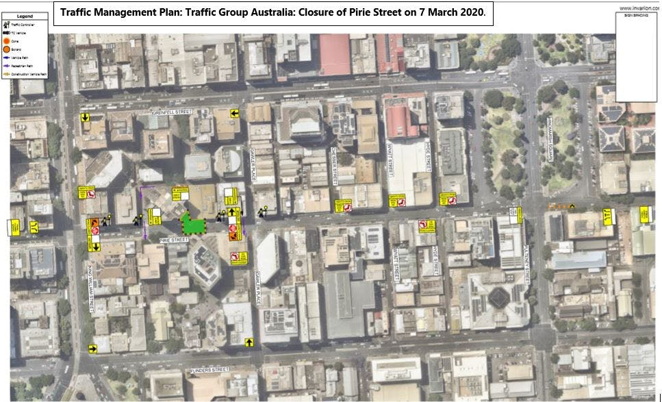Traffic Management Plan. Tga.Pirie.Street