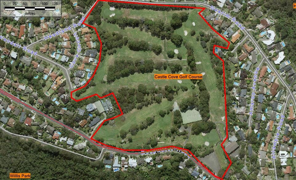 Castle Cove Golf Course   Aerial Map