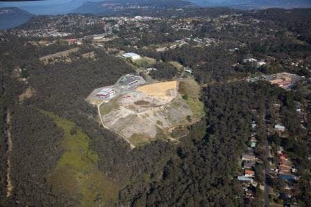 Aerial view of the Katoomba Transfer Station
