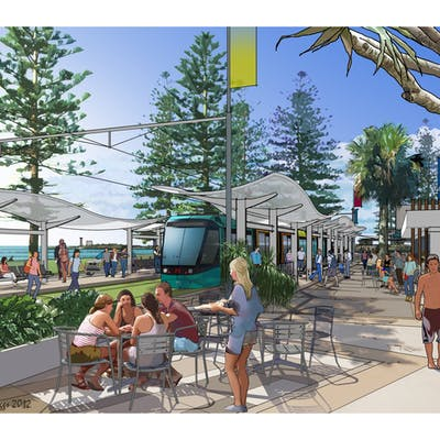 Light rail can integrate seamlessly with coastal lifestyle