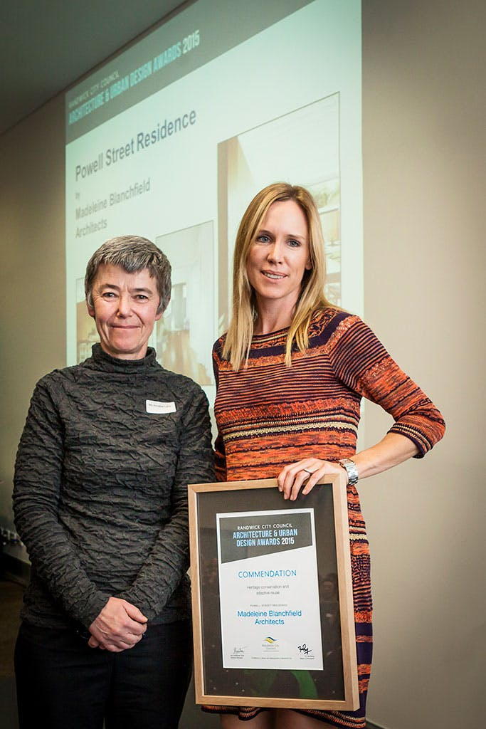 commendation award – heritage conservation and adaptive reuse – Powell Street Residence by Madeleine Blanchfield Architects