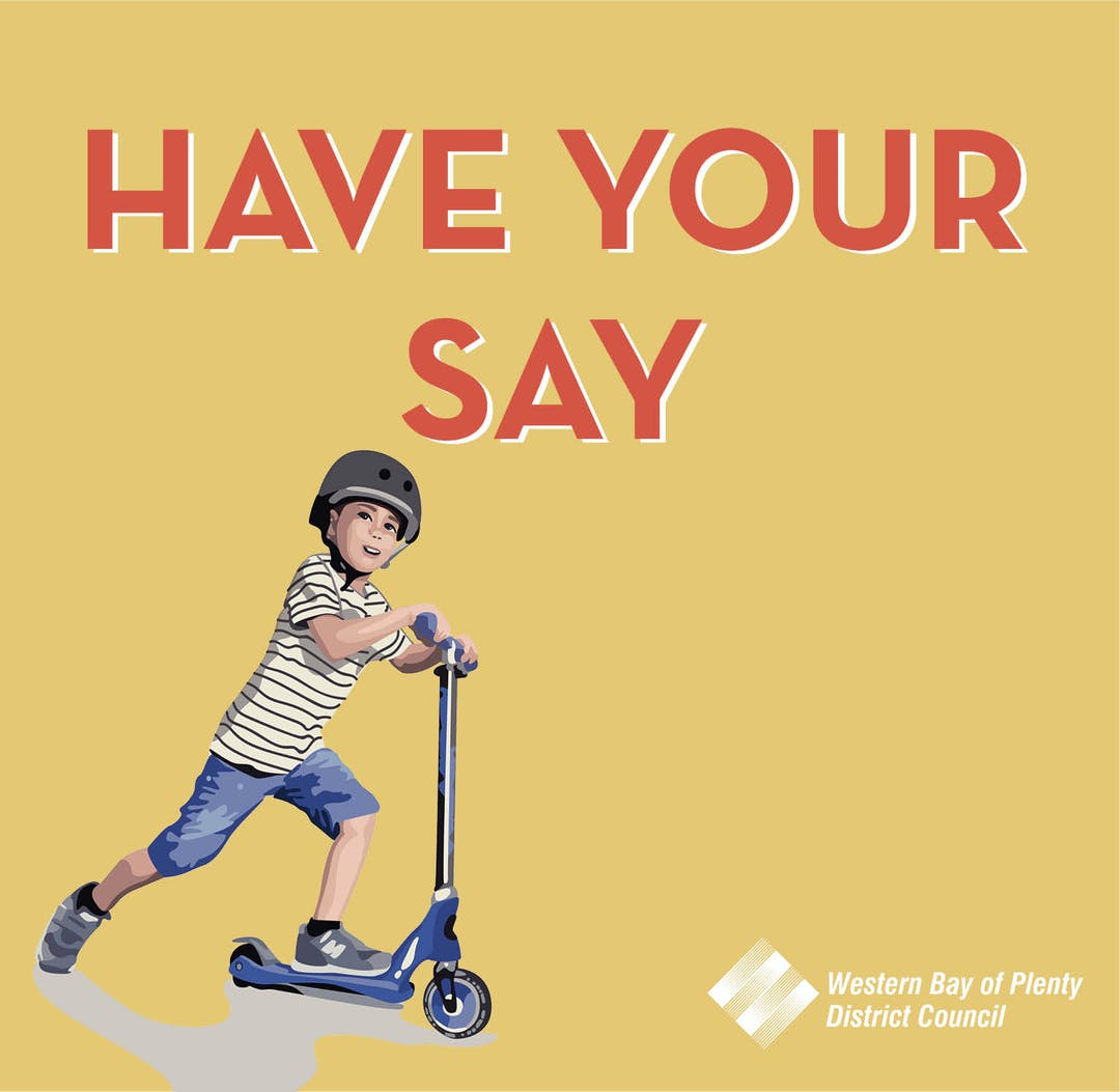 Have your say image of a little boy on a scooter.