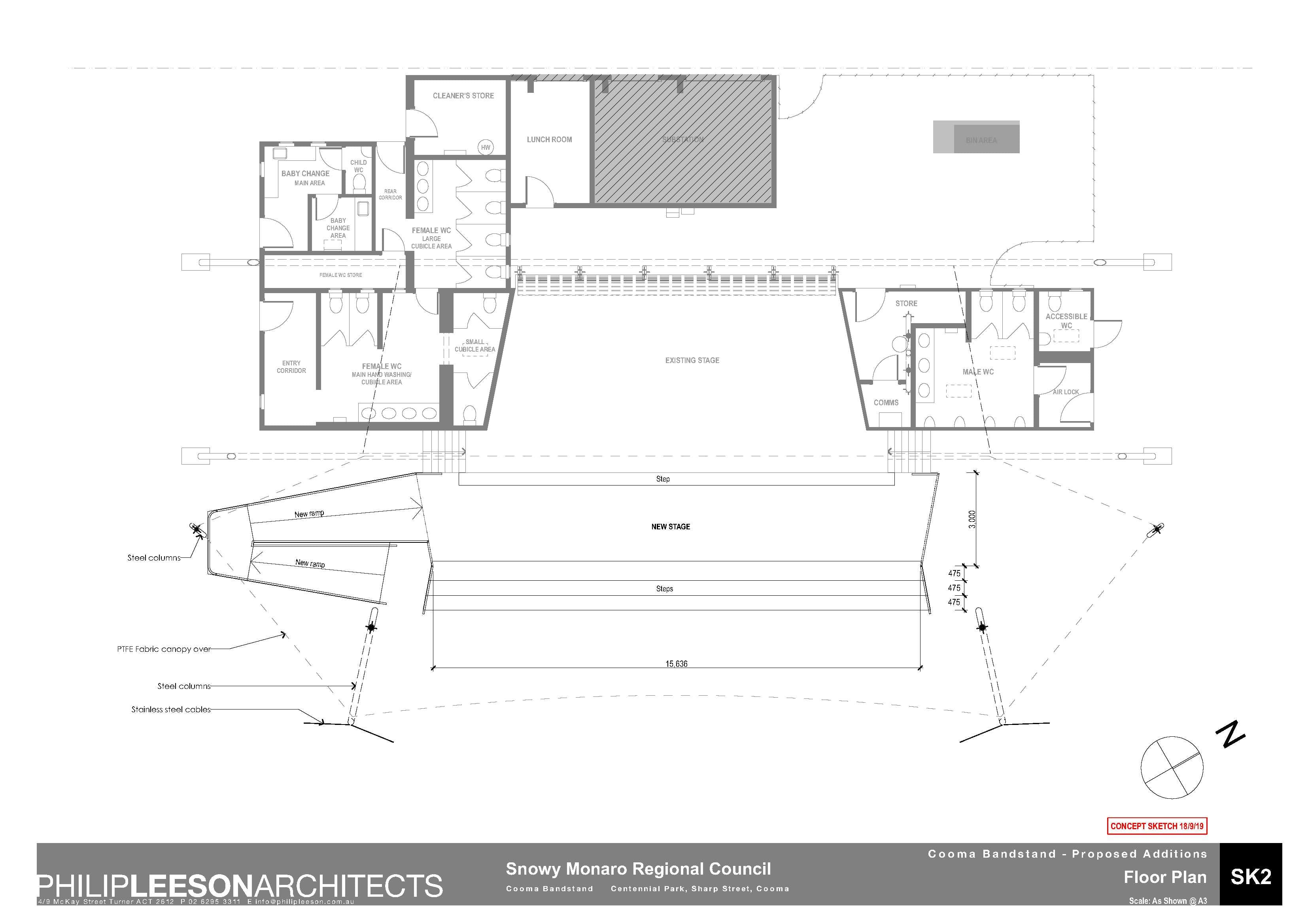 Cooma Bandstand - Proposed Additions_190918 Concept Sketch_2
