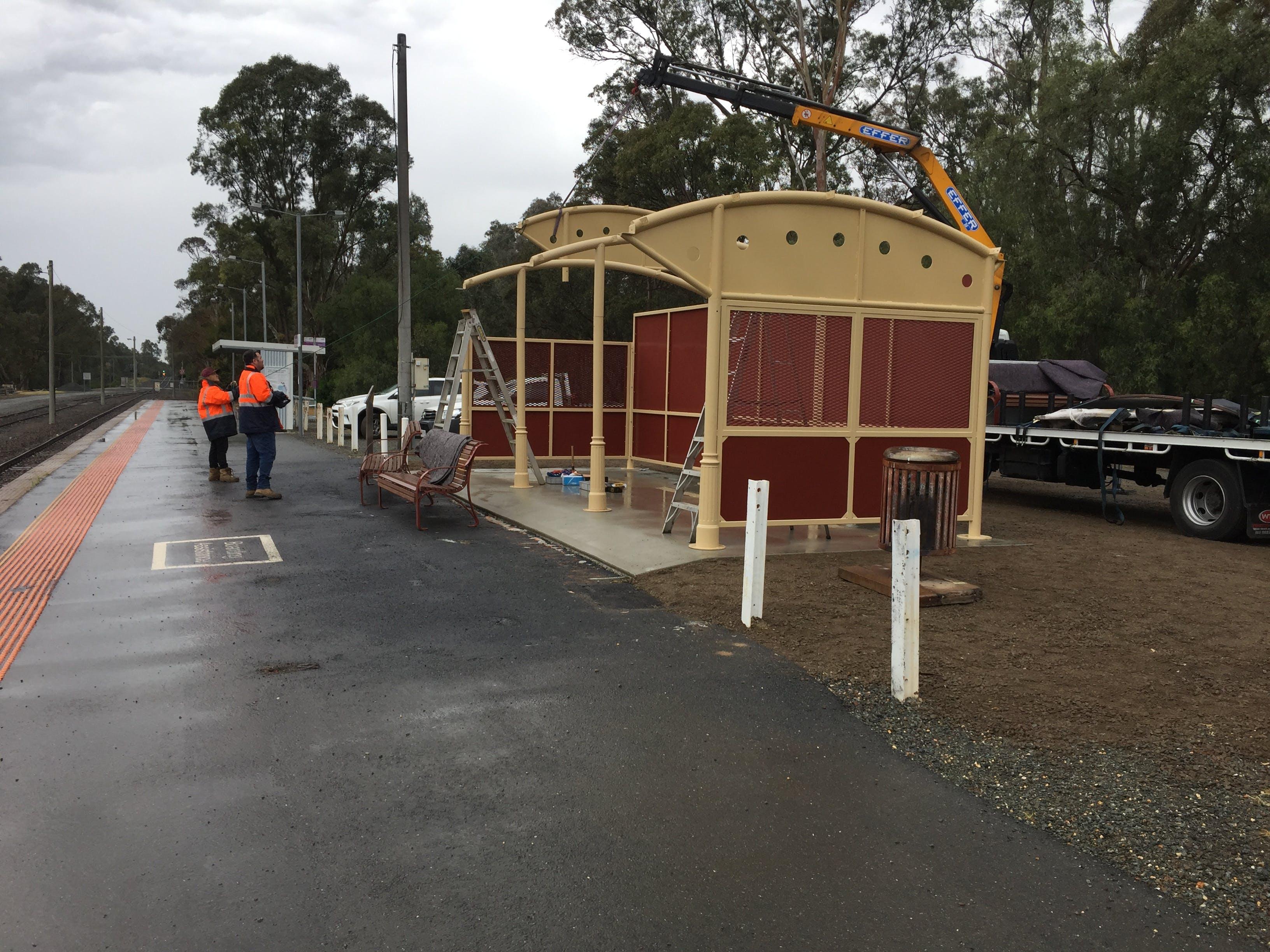 Mooroopna new shelter construction October 2018