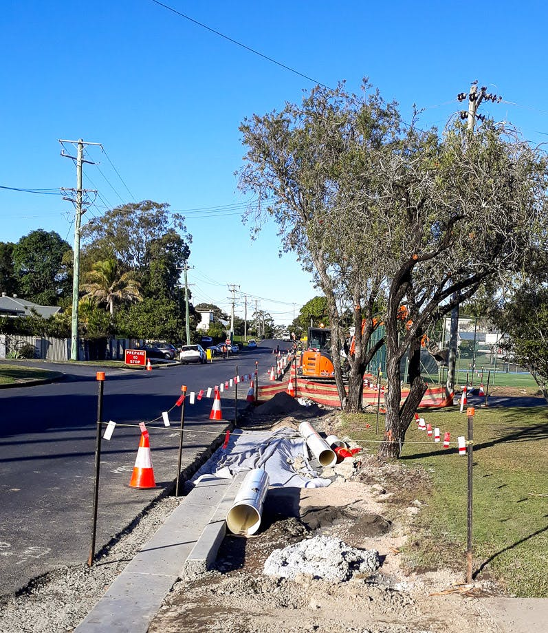 Works include drainage upgrades along King Street.