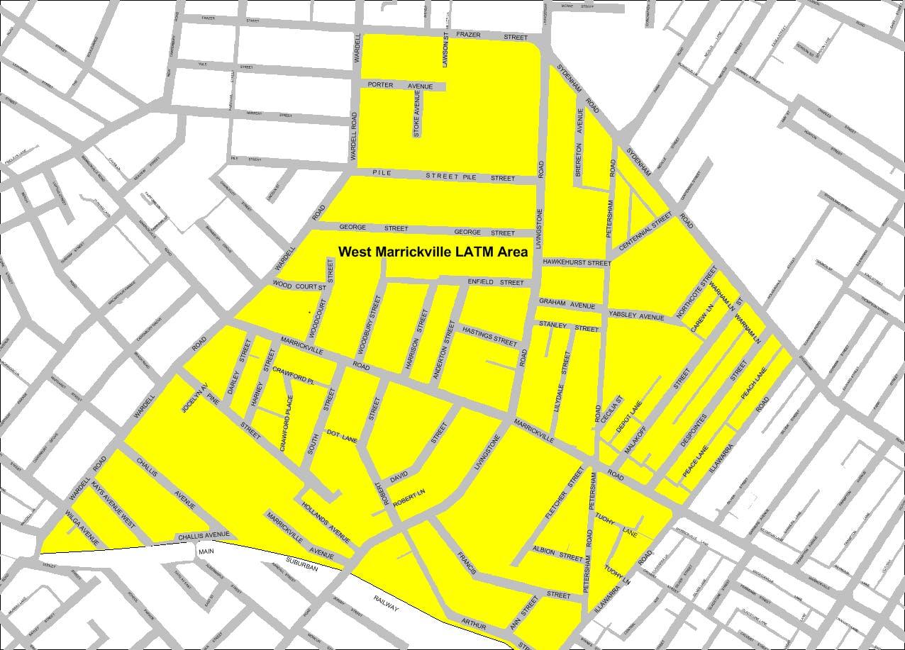 Map West Marrickville Area 13 Latm