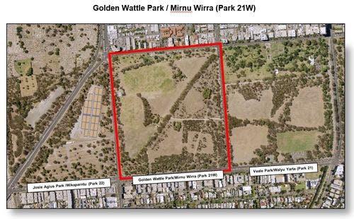 Map Golden Wattle Park