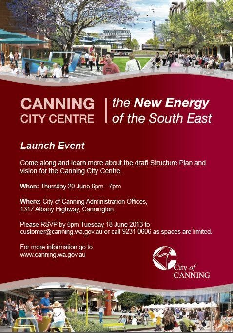 Canning City Centre Launch 20 June 2013