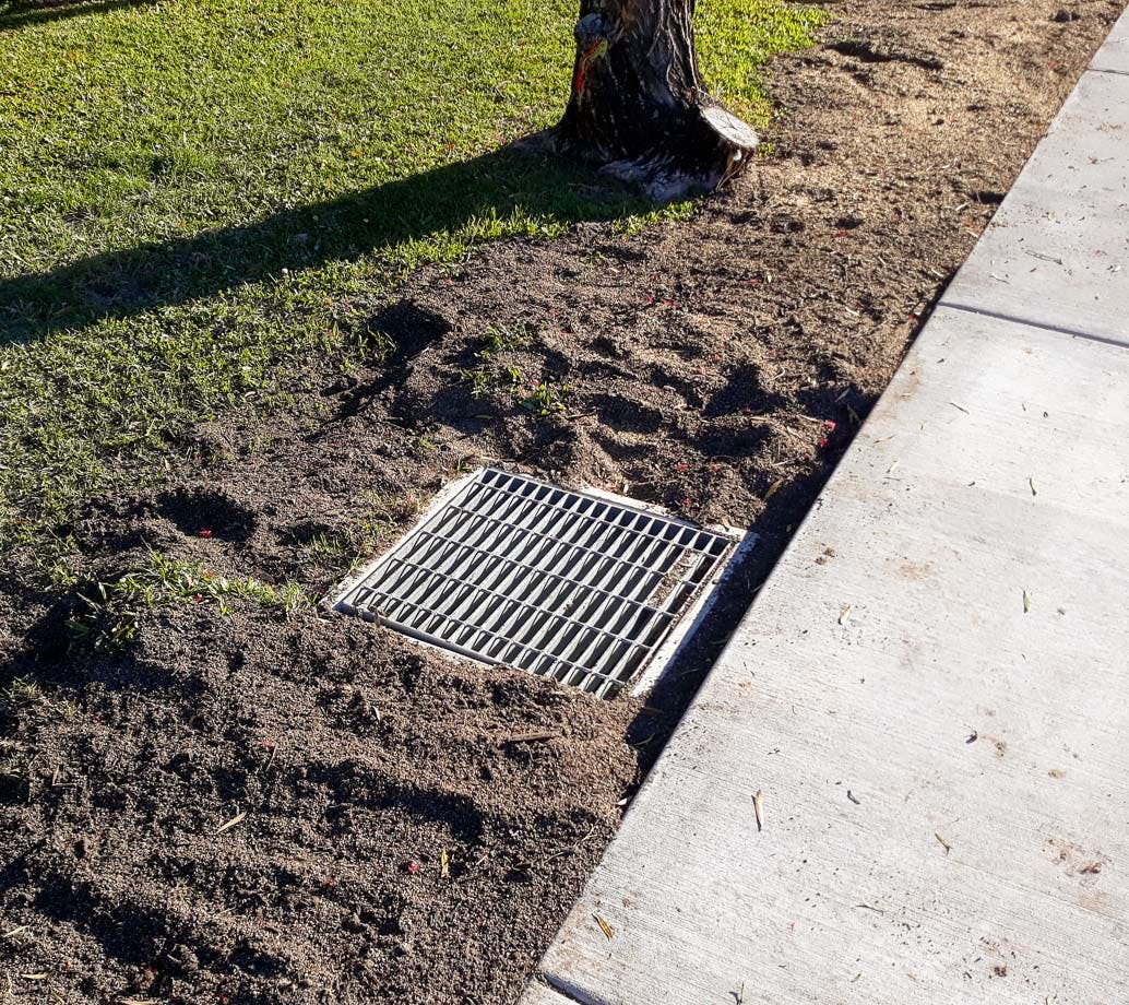 New drainage pits are being installed as part of the project.