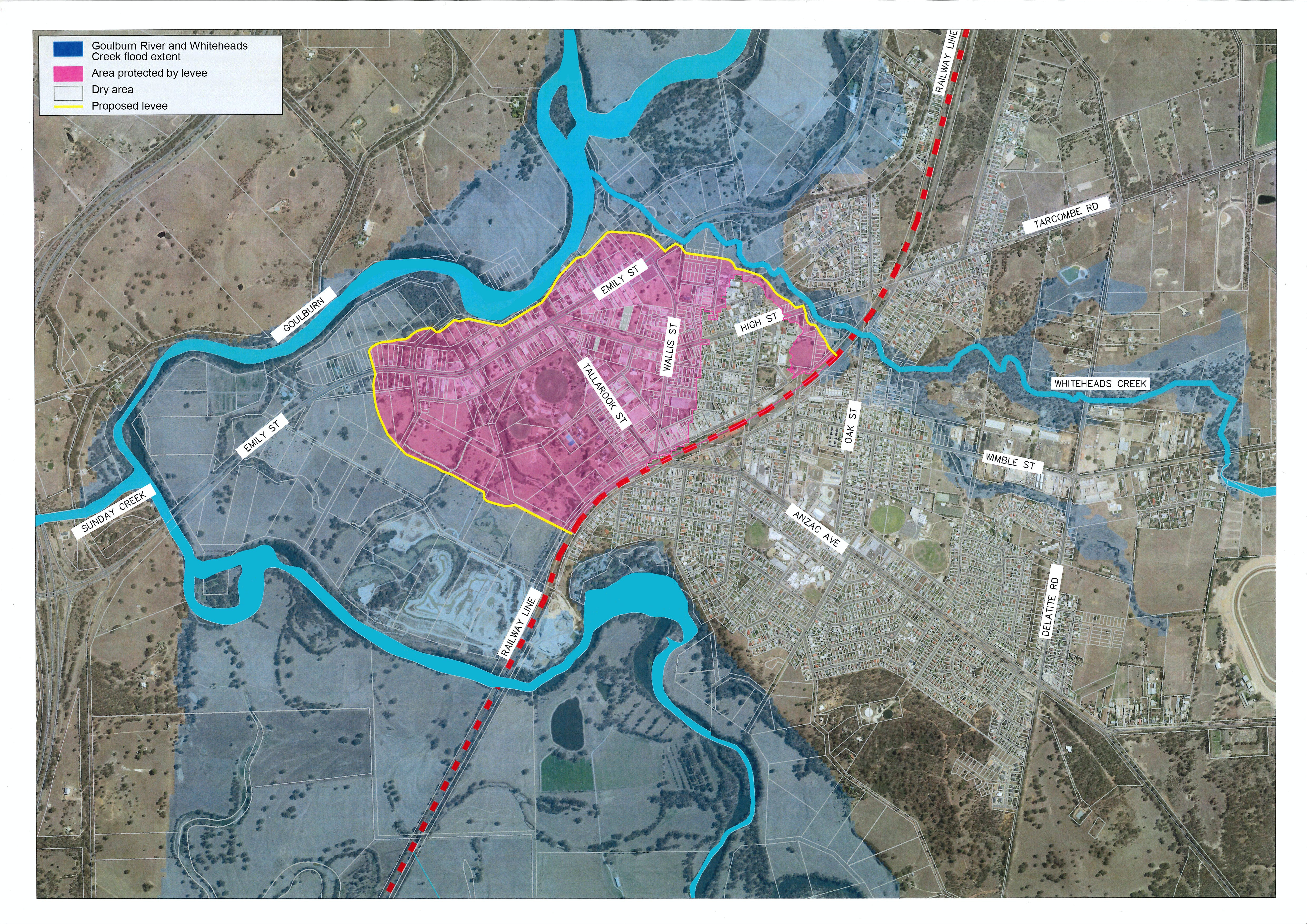 Proposed Seymour Levee Map