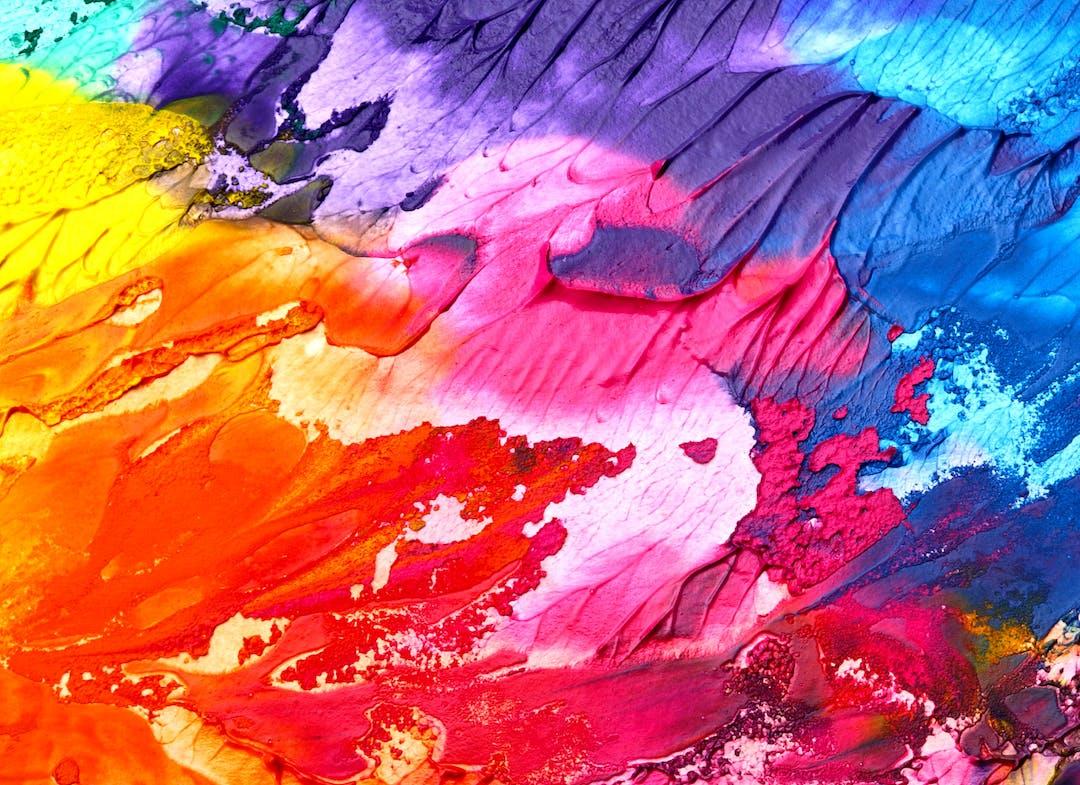Multi- coloured paints