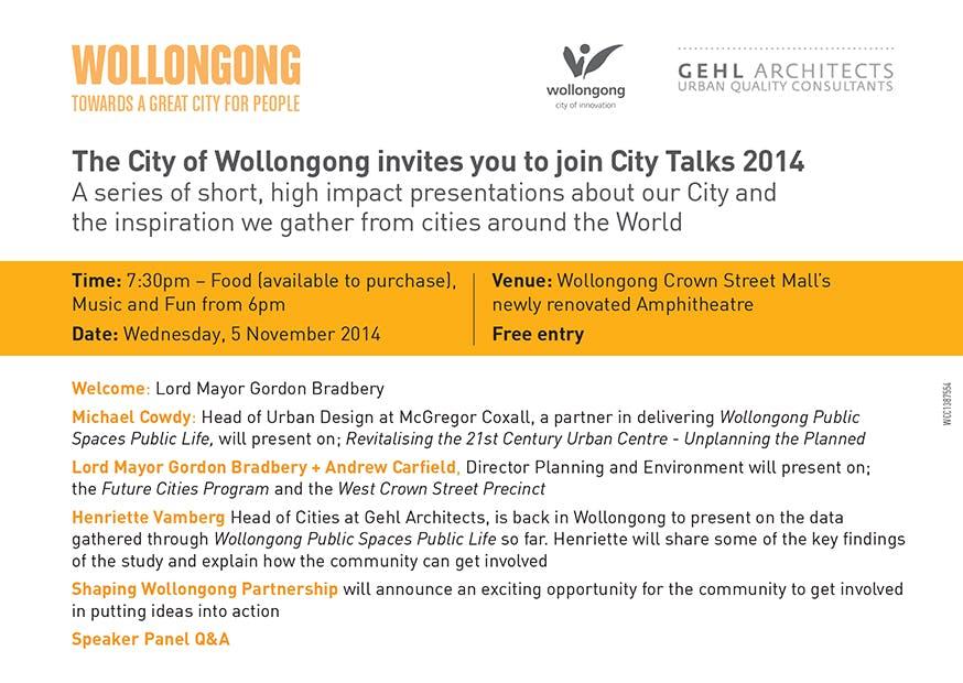 City Talks Postcard