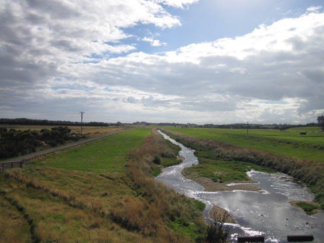 Waihopai River from dam