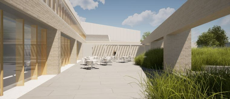 Artist impression of the Heffron Centre entry and plaza
