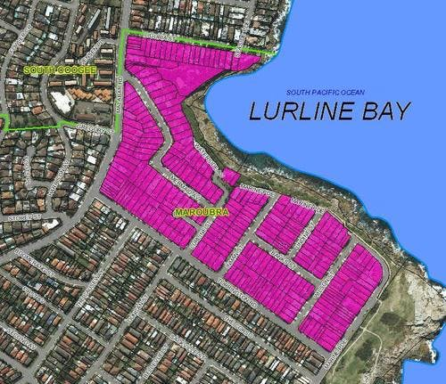 Proposed suburb boundaries for Lurline Bay