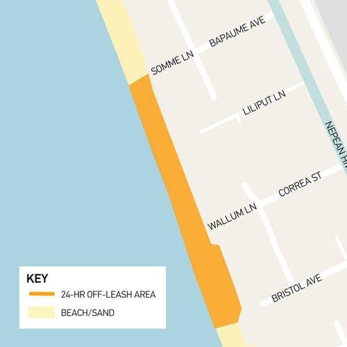 Proposed off-lead area