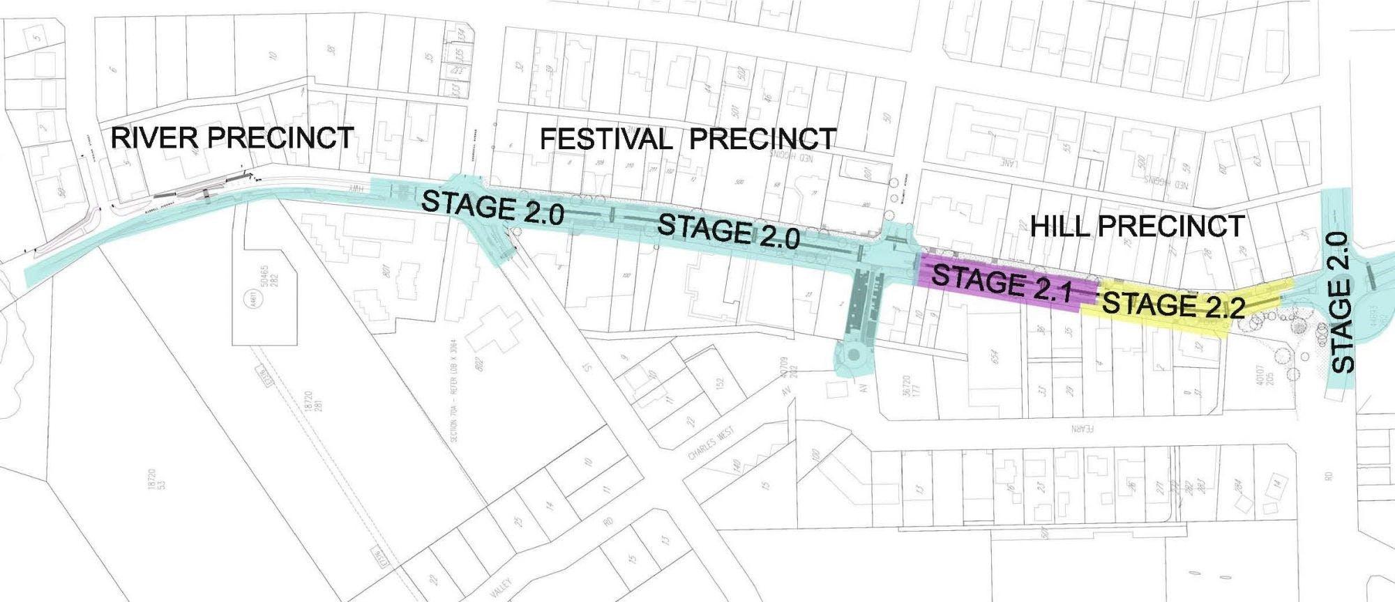 Main Street Margaret River - Staged Implementation