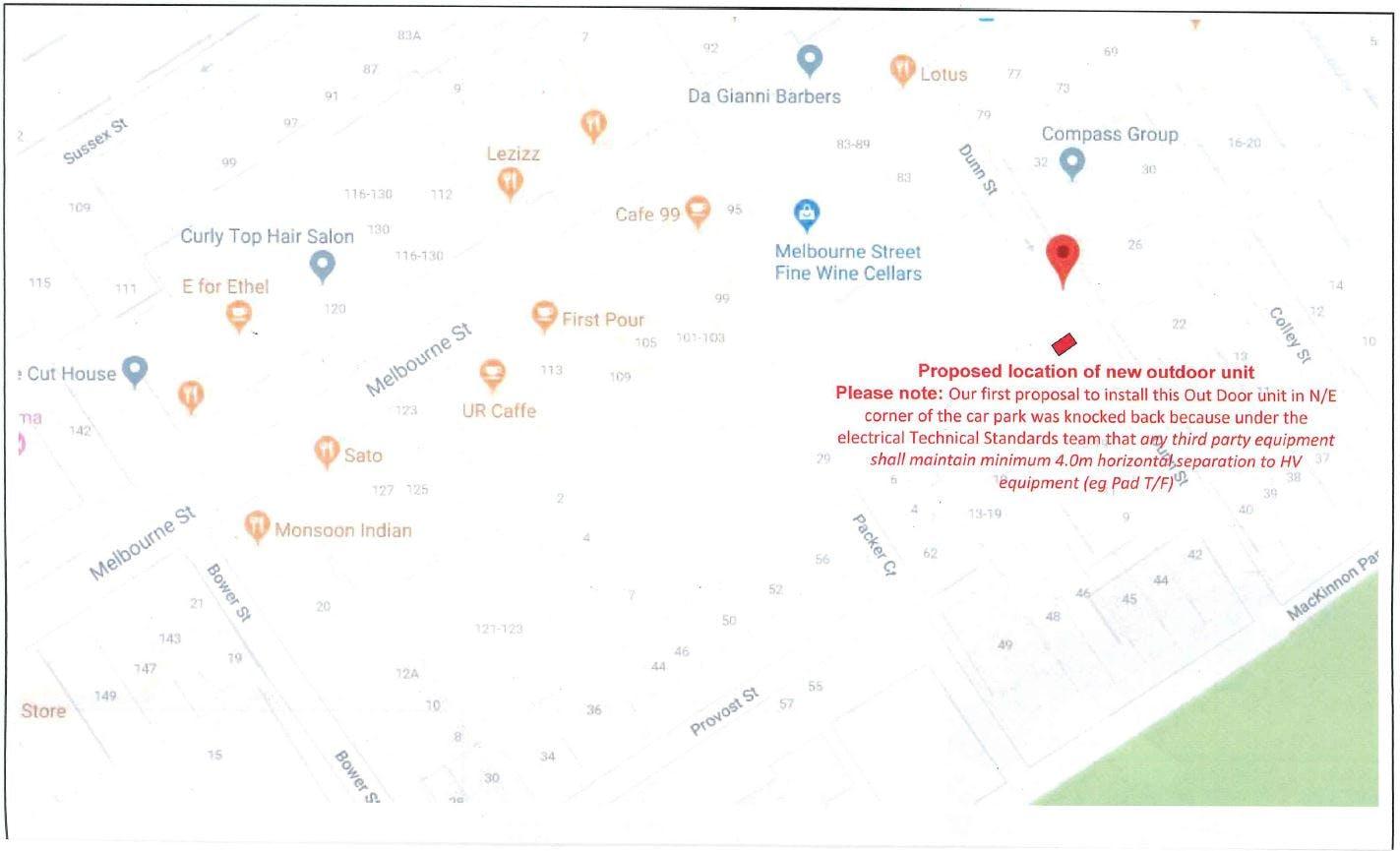Location Of Dunn Street Car Park