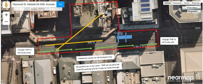 Traffic Management Plan. Built Environs. Part Closure Of Waymouth Street. April 2020
