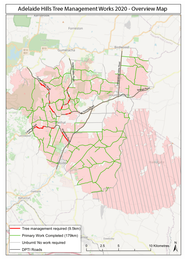 Overview map - Tree Management Works
