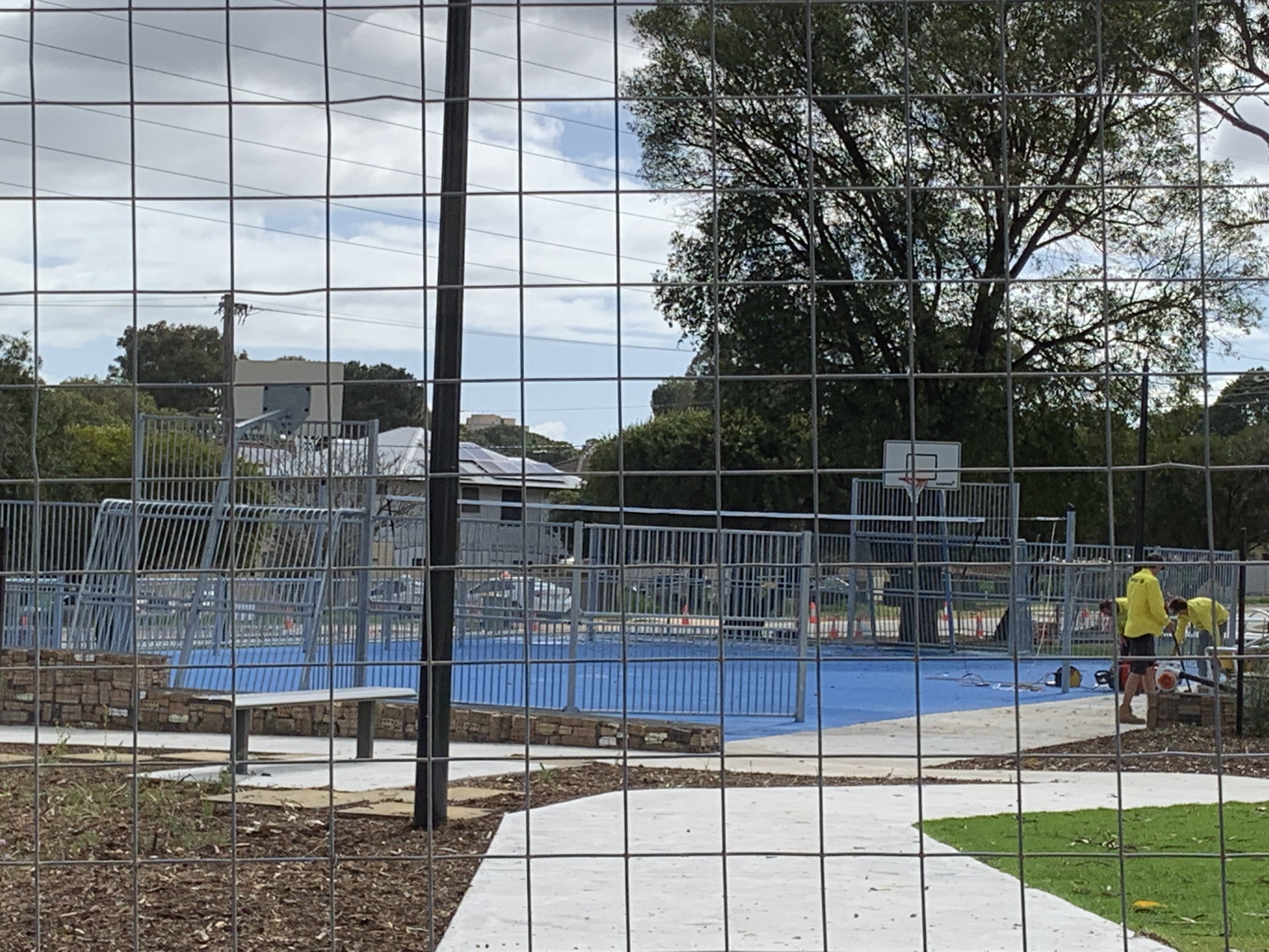 11 More works on the multi-sports hardcourt