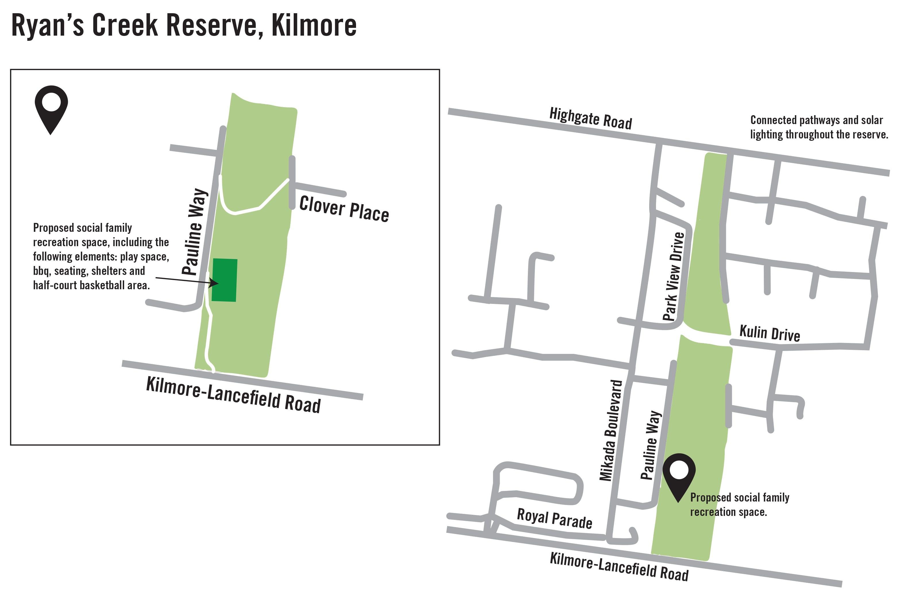 Ryans Creek Reserve Map
