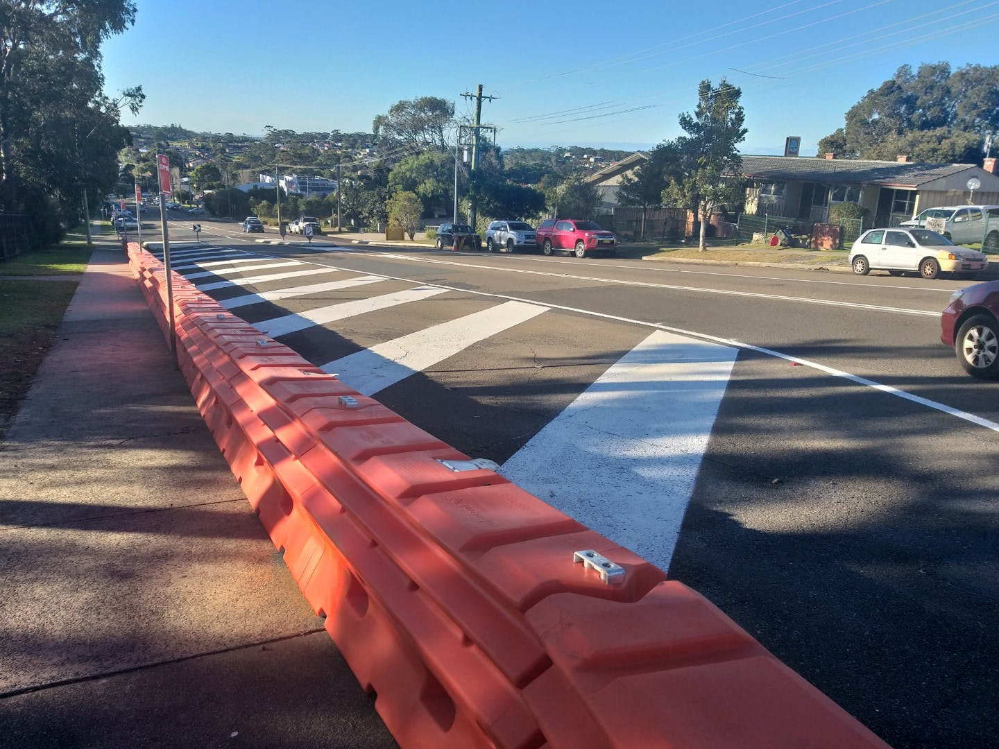 St Vincent Street barriers and line marking.jpg