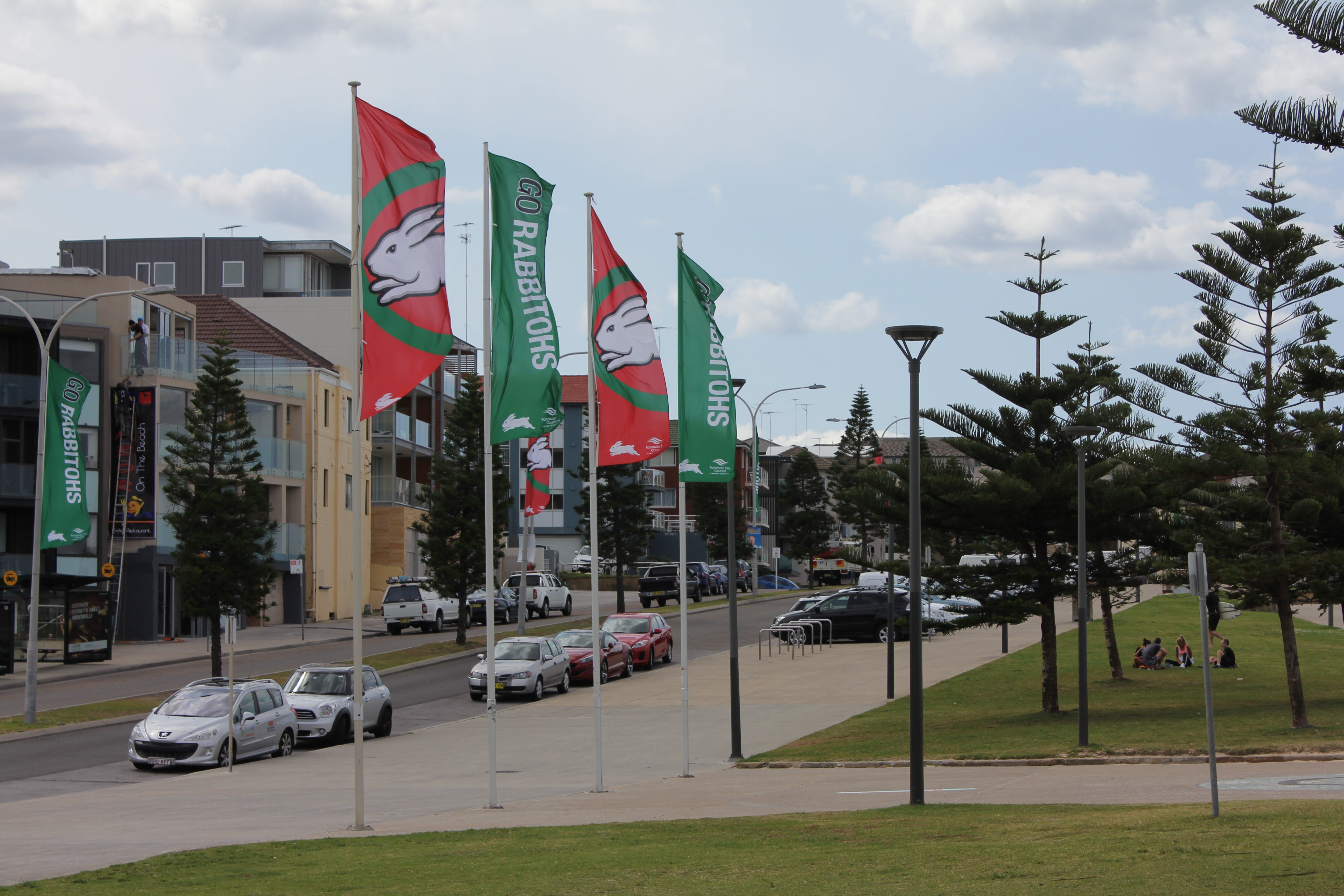 Rabbitohs Banners At Maroubra