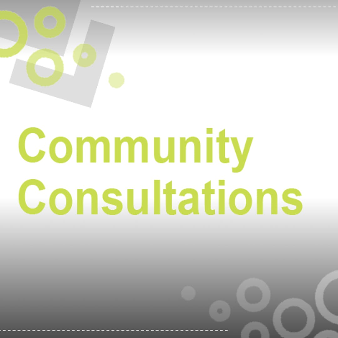 Community consultations tile