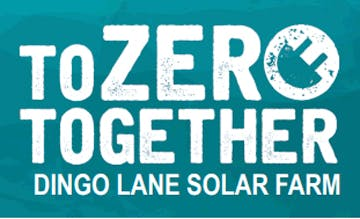 Dingo Lane Solar Farm, To Zero Together logo