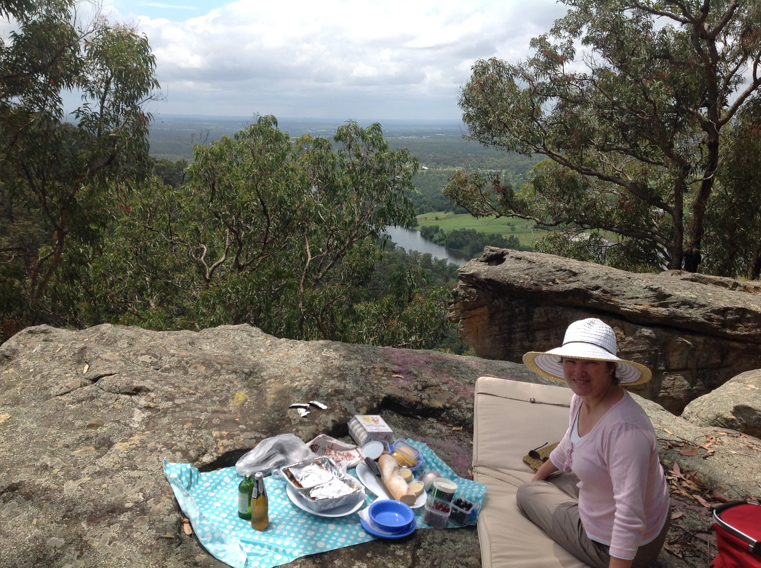 View of Nepean River facing north east from a picnic lookout at Yellow Rock, lower Blue Mountains