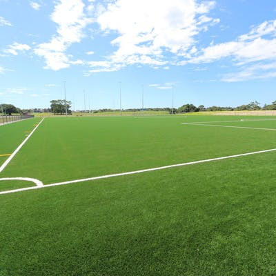 New synthetic playing fields at Latham Park, South Coogee