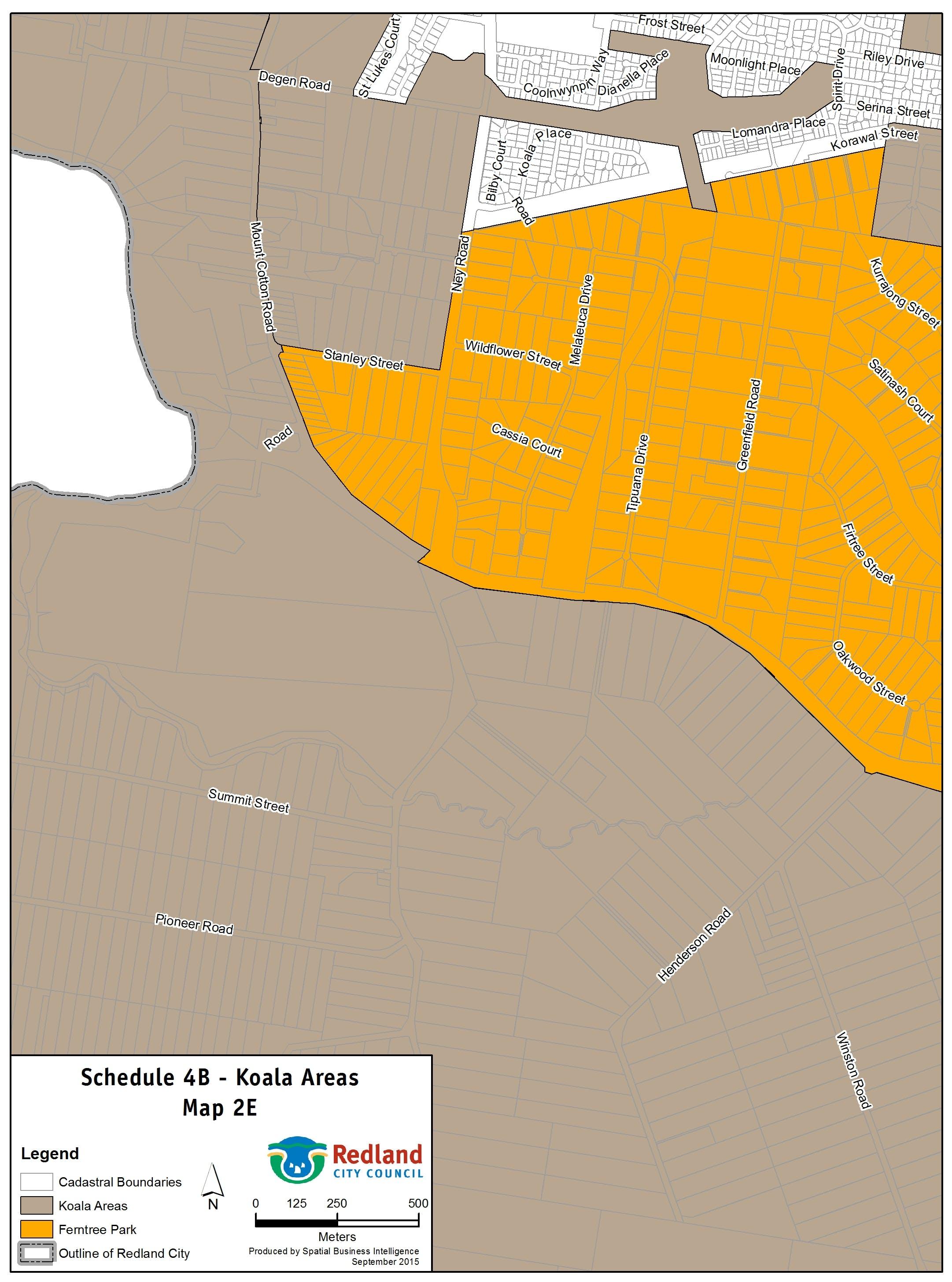 Koala Areas - Map 2E