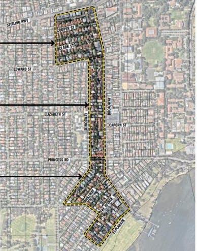 Extent of Broadway Precinct Map