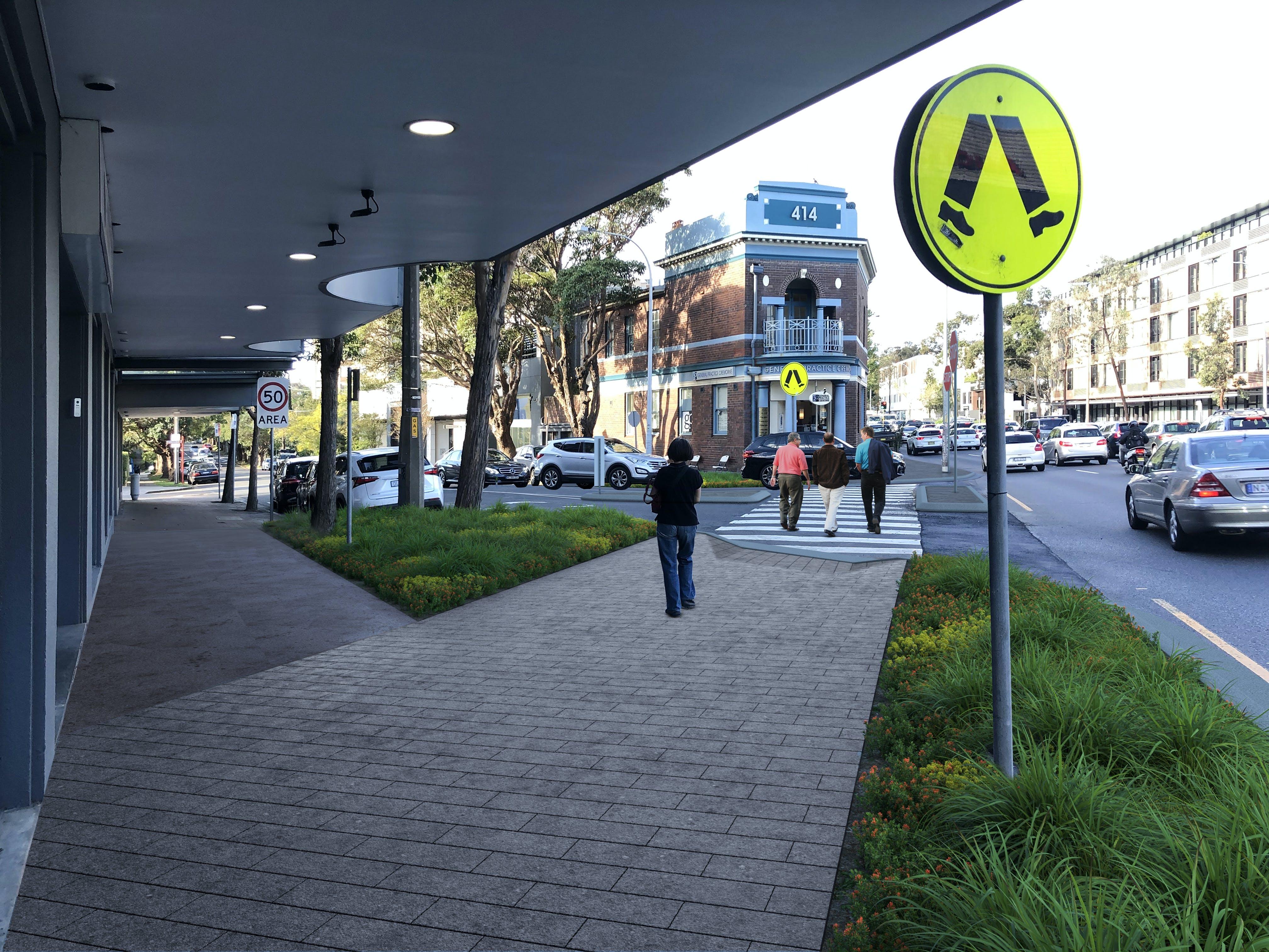 Macpherson Street - Photomontage Street Level