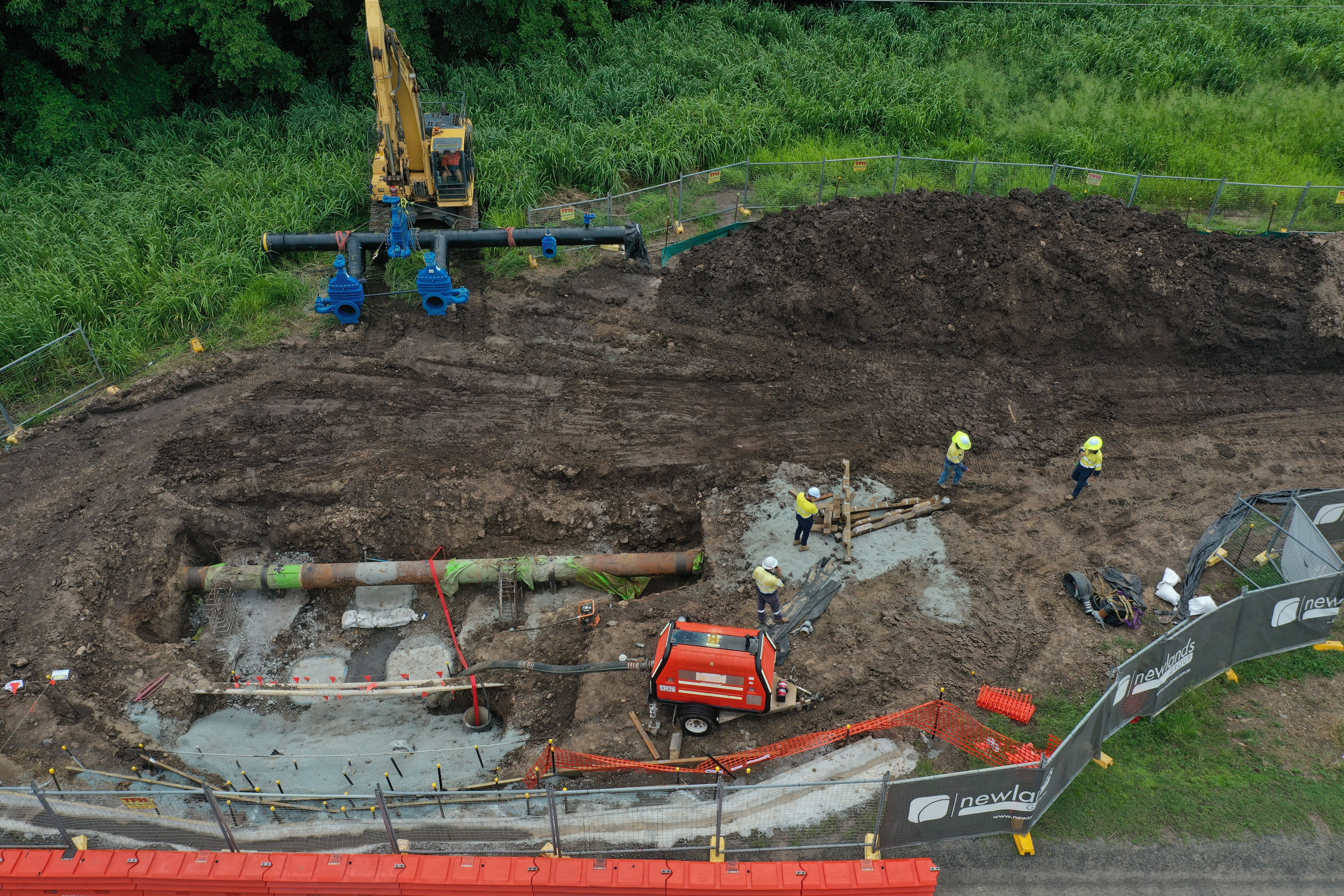 Manifold being lifted into place - 24 March.jpg