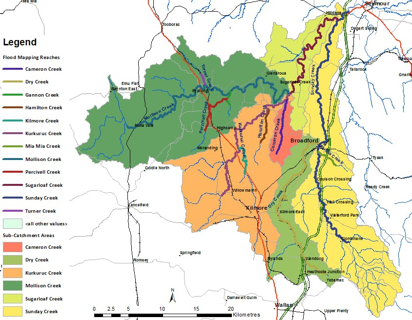 Sunday and Dry Creek Catchment