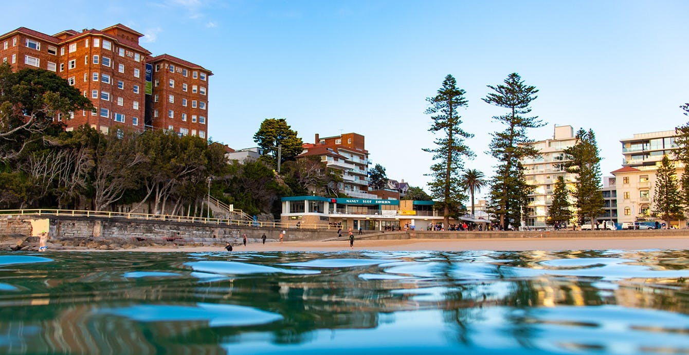 View of Manly Life Saving Club from the ocean