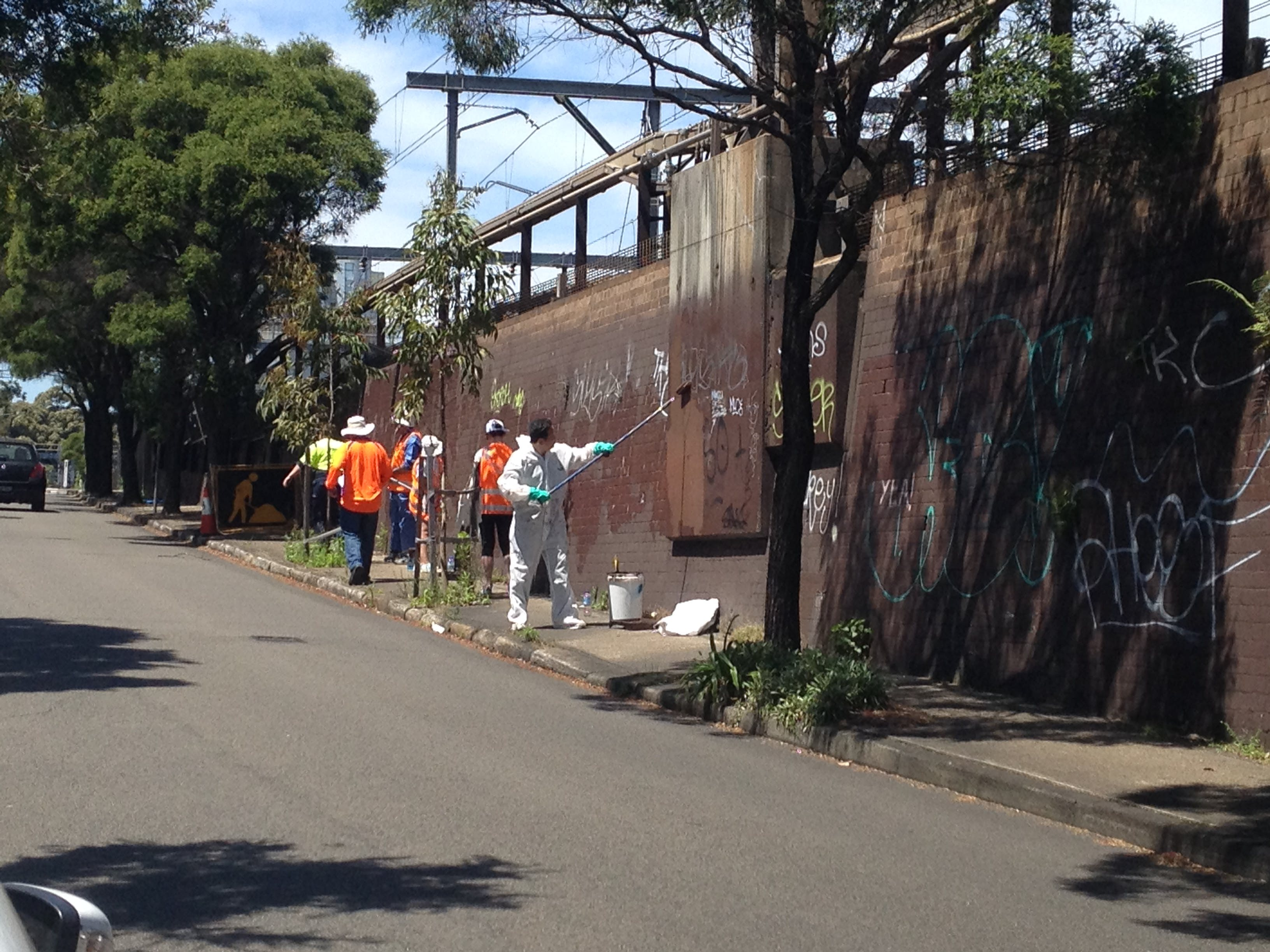 Graffiti management at Petersham Station